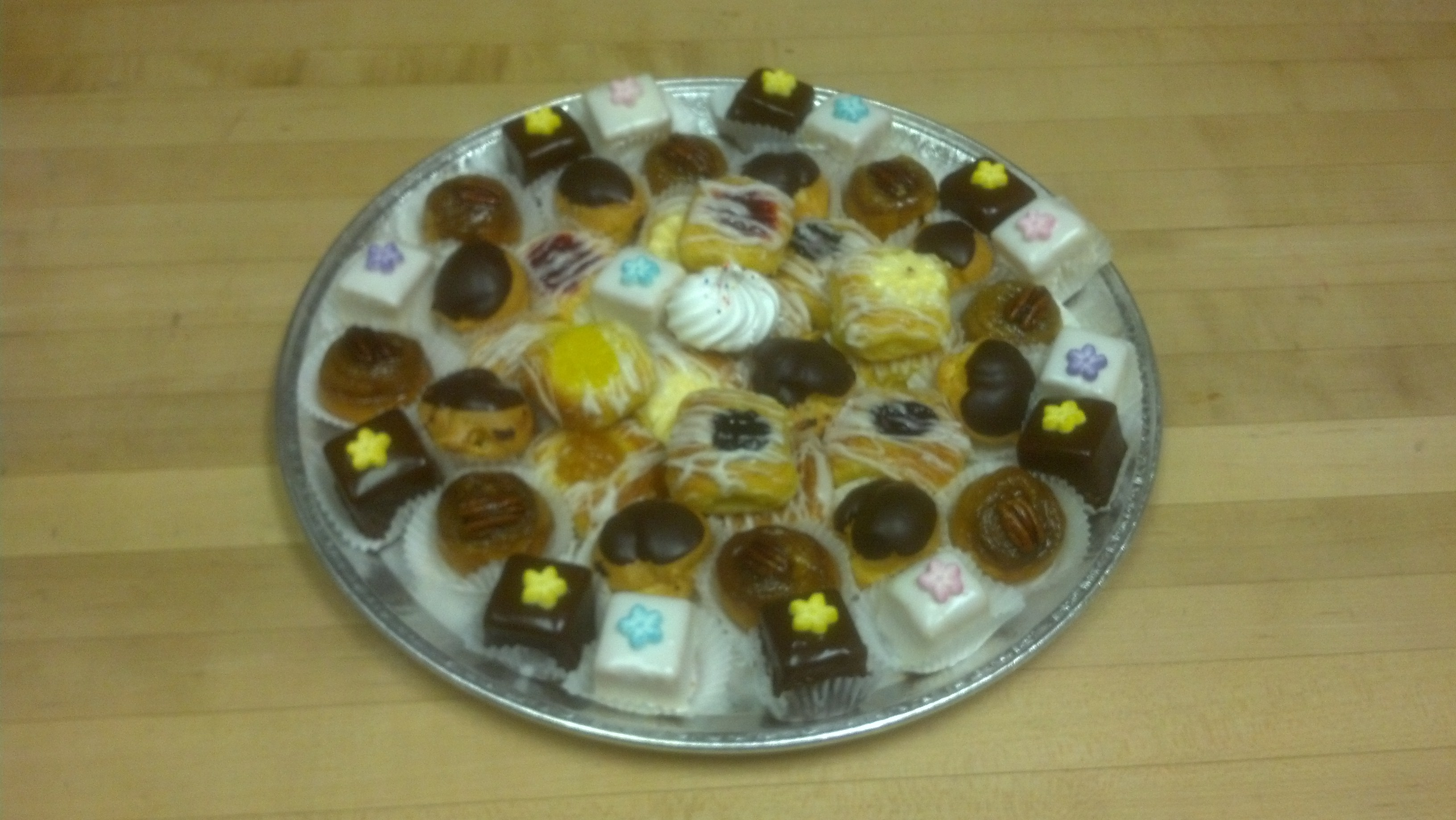 Miniature pastry tray from Mayfair Bakery