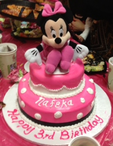 2 tier - minnie mouse