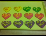 Customized heart cookies